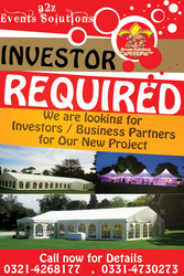 Serious Business Partner or Investor Required In Lahore Punjab